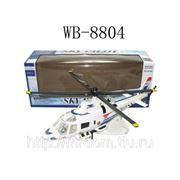 Вертолёт белый, на батарейках (822003) фото