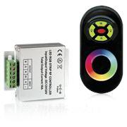 Контроллер для светодиодной ленты RGB 144W 12А с пультом управления цветом (цвет черный) фото