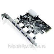 Контроллер PCI-E x1 4xUSB 3.0 (ext) (RTL)