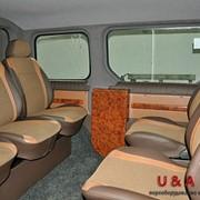 Переоборудование микроавтобусов. Обшивка авто салона. фото