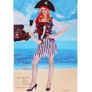 Карнавальный костюм пирата (женский), 4 предмета, размер 44 - 46