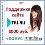 Аутсорсинговая поддержка сайта Tiu.ru, 4-8 часов в месяц