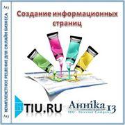Создание информационных страниц для сайта на tiu.ru фото