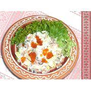 Салат «Оазис з сьомгою і червоною ікрою» — Салат «Оазис с семгой и красной икрой» фото