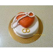 Торт-сердце фото