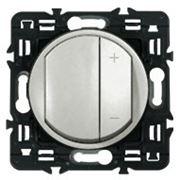 Светорегулятор кнопочный Legrand Celiane 600Вт с лицевой панелью (титан) фото
