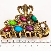 Краб (7 см.) бронзовый с цветными камнями 213160(4) фото