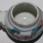 Кормушка керамика для птиц круглая с держателем, 4.5 см фото
