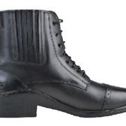 Ботинки кожаные на шнурках, молния сзади 5516 фото