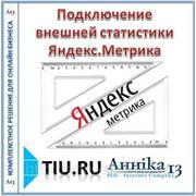 Подключение внешней статистики Яндекс.Метрика для сайта на tiu.ru фото