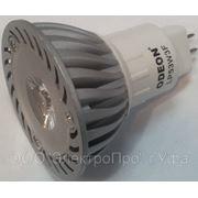 Лампа MR16 светодиодная 1LEDx3W 220V GU5.3 40' 240лм хол. бел. фото