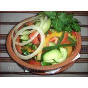 Салат Зелений по селянски - Салат из свежих овощей фото