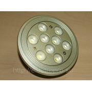 Лампа 9LED DC12V G53 9*1W AR111 (холодный белый) фото