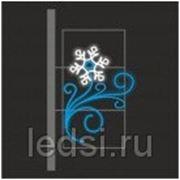 Световой кронштейн «Снежинка (меняется на лотос)» фото