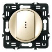 Выключатель (переключатель) одноклавишный с подсветкой Legrand Celiane 10А с клавишей (слоновая кость) фото