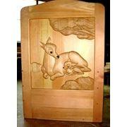 Кроватка детская с художественной резьбой по дереву фото