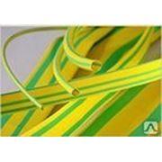 Трубка ТУТнг (ж/з) 8/4 термоусаживаемая негорючая желто-зеленая фото