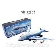 Самолет, эл/мех, световые и звуковые эффекты, пластмасса, в коробке, 28х8х11,5см (826610) фото