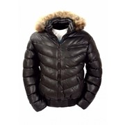 Куртка зимняя из экокожи MAXEY CJ 1384 фото