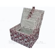 Коробка С Крышкой (33*25*Н18),Волокна Целлюлозы,Ткань, Компл. - 7 фото