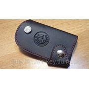 Кожаный чехольчик для ключа SKODA фото
