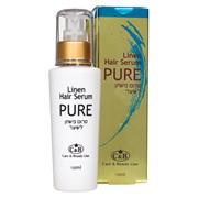 Льняная сыворотка (серум) PURE для ослабленных волос Саre & Beauty Line фото