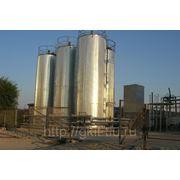 Вертикальная емкость (резервуар) для хранения битума, мазута и др. нефтяных жидк. 20,30,50 куб. м. фото