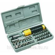 Насадки и сменные головки с держателем, набор 40шт.,Top Tools. фото