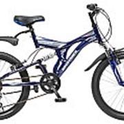 "Велосипед NOVATRACK 20"" TITANIUM темно-синий сталь 6 скор. 20SS6V.TITANIUM.DB.5 #098613 фото"