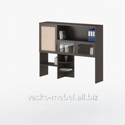 Надстройка для стола СОЛО-007 Корпус венге, фасад венге/дуб молочный/стекло фото
