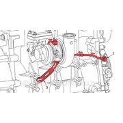 Схема системы смазки двигателя Cummins ISF 2.8