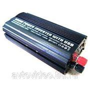 Преобразователь напряжения (инвертор) 12В/220В мощность 600/1200 Вт фото