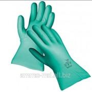 Перчатки нитриловые маслостойкие GREBE 33см фото