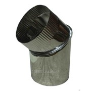 Колено дымохода из нержавеющего металла D150 мм фото