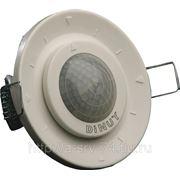 DM SEN R01. Беспроводной датчик движения, питание от батареек, угол 260 градусов, диаметр 6 м, монтаж в фальшпотолок.