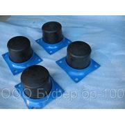 Буфер резиновый бр-200 крановый,буфер бр-200 с фланцем,,упор тупиковый фото