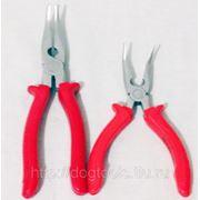Тонкогубцы изогнутые Professional Tools CRV Красная ручка 160мм фото