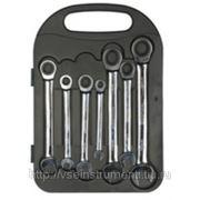 Набор трещоточных комбинированных ключей kraftool 27235-h7 фото
