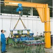 Кран консольный с электрическим приводом г/п 0,5 т вылет консоли 4 м фото