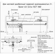 Кран-балка (мостовой кран) однобалочная однопролетная подвесная 2т., 9м т.: (863) 207-27-26 фото