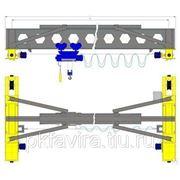 Кран мостовой электрический однобалочный г/п 2 т. пролет 13,5м. фото