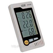 CEM DT-322 Термогигрометр комнатный с часами и календарем фото