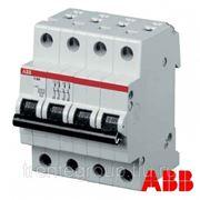 Автоматический выключатель ABB S204 1А, 2А, 4А, 6А, 10А, 16А, 20А, 25А, 32А, 40А, 50А, 63А 4-полюса 4п 4P фото