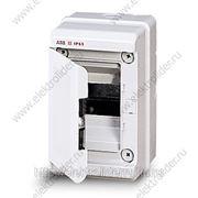 Бокс настенный 4М IP65 с дверцей серый фото