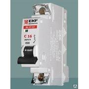 Автоматический выключатель EKF 1p6a тип C фото