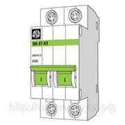 Выключатель автоматический ВА47-63 2п 06А 4,5кА С ASD фото
