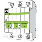 Выключатель автоматический ВА47-63 3п 06А 4,5кА с ASD фото