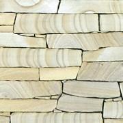 Песчаник Желтый,бело-желтый,коричневый 4-5 см фото