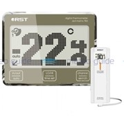 Цифровой термометр с радиодатчиком, точечно-матричный дисплей с анимацией температур RST 02783 фото