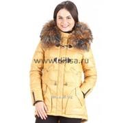 Куртка с мехом Mishele 9515 охра фото